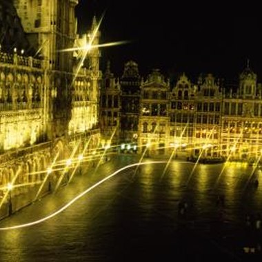 The Grand Place of Brussels at night