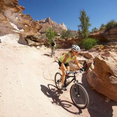 Zion's Pa'us trail is accessible by shuttles with bike racks.