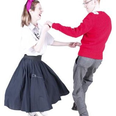 Rock dance has its roots in the swing style Lindy hop.