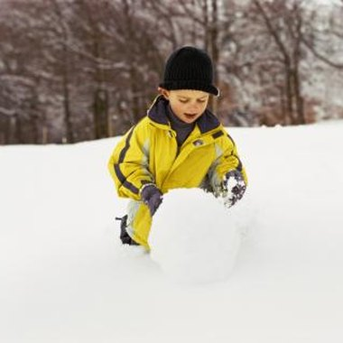 Have a snowball contest to see who can roll the largest snowball.