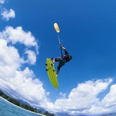 Learn the basics of kiteboarding before riding upwind.