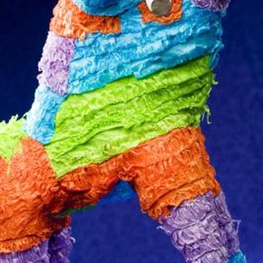 Pinatas are typically made with papier mache.