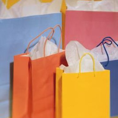 Replace plastic or paper gift bags with useful totes and canvas party bags.