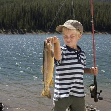 Children can enjoy captivating story books about fishing.