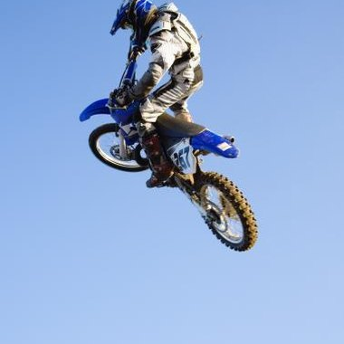 Motocross bikes have specialized suspension for jumps.