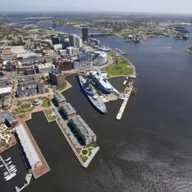 Visit the revitalized downtown waterfront of Norfolk, Virginia.
