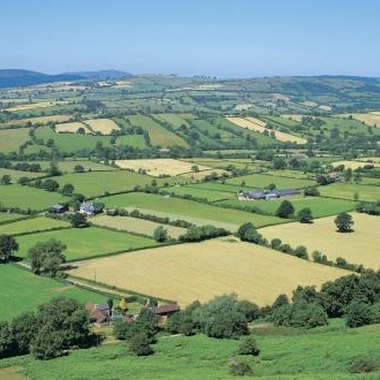 Shropshire's rolling countryside is typically English.