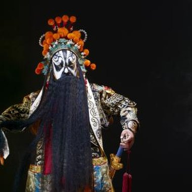 An example of the famously dramatic costumes and masks of Chinese opera