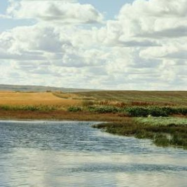 Fields and rivers in Saskatchewan, Canada, offer bountiful hunting and fishing.