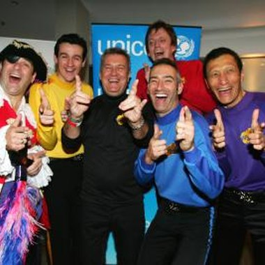The Wiggles is a group of four men and characters who sing and dance to children's songs.