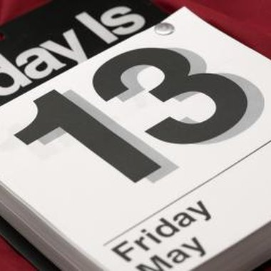 Throw a party with superstition-themed games on Friday the 13th.