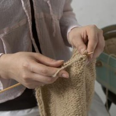 Keep your fingers relaxed to knit faster.