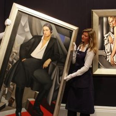Two portraits by de Lempicka up for auction at Sotheby's.