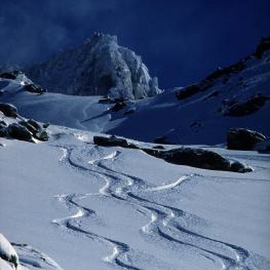 Backcountry terrain is more easily accessed with ski climbing skins.