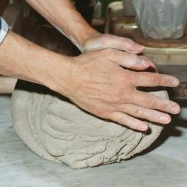 Knead the clay before you shape it.