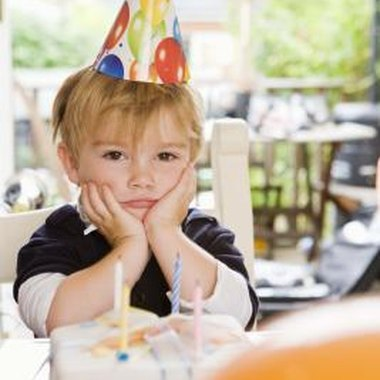 Some children don't have fun at noisy birthday parties, preferring more sedate activities.