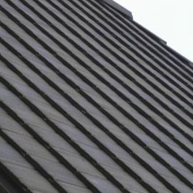 Slate is often used in roofing.