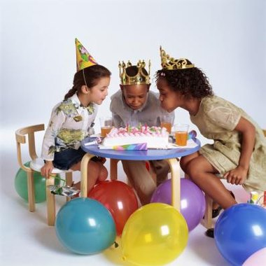 Girls can have lots of fun with table games at a birthday party.