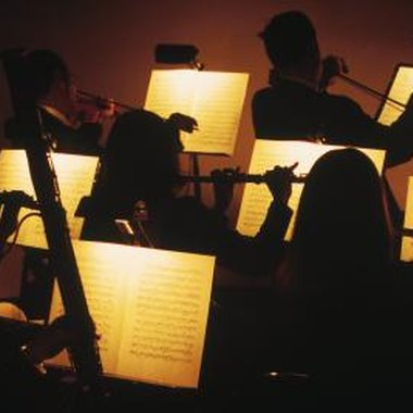 Musicals often make use of an orchestra to support the singers.