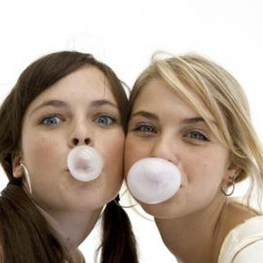 Create a bubble-blowing relay race for teens.