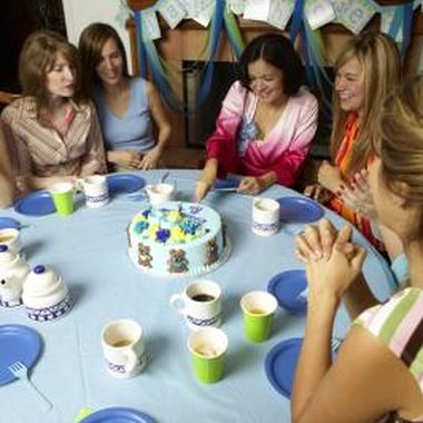Baby showers are a traditional time for women friends and family to bond.