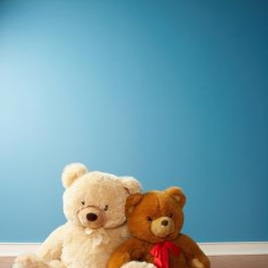 Decorate with teddy bears for a bear-themed birthday party.