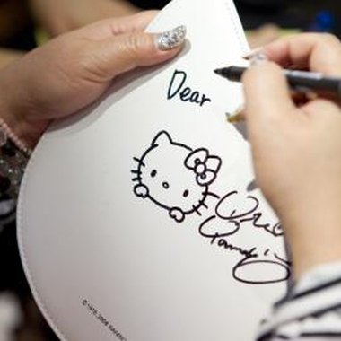 Hello Kitty products are available for baby showers and nursery decorations.
