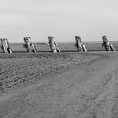 Cadillac Ranch is one of Amarillo's most famous tourist spots.