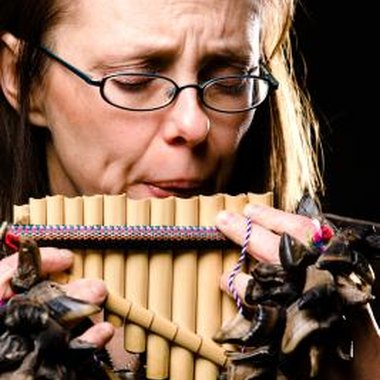 This deceptively simple instrument is played by blowing across the open ends of the pipes.