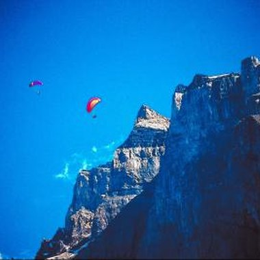 Paragliding was originally used for descending mountains.