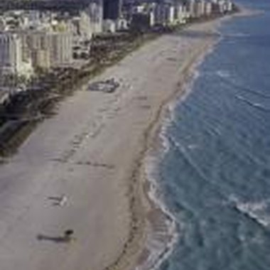 Miami Beach's golden sands stretch for seven miles.