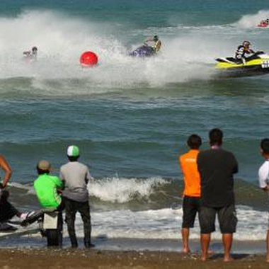 Jet skiing in partners and groups add excitement and visual depth to the sport.