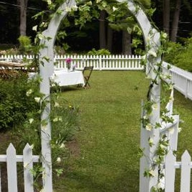 You can make a miniature arch doorway for a miniature garden.