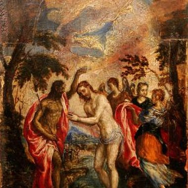 'The Baptism of Christ' dates from about 1596-1600.