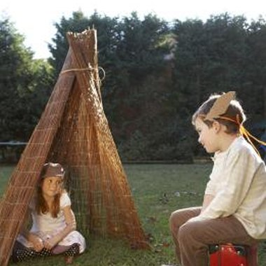 A simple tepee can be used as a decoration for a Native American birthday party.
