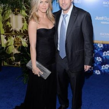 Adam Sandler and Jennifer Aniston at the movie's premiere.