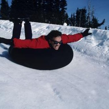 Children and adults will enjoy snow tubing.