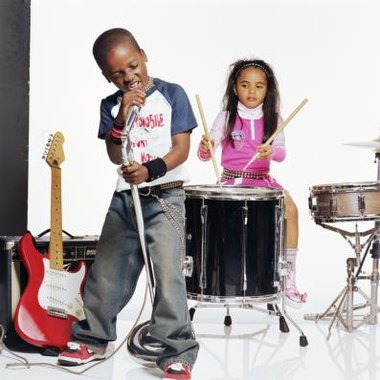 Create rock star party games children will enjoy.