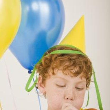 Create relay races with balloons for 5-year-olds.