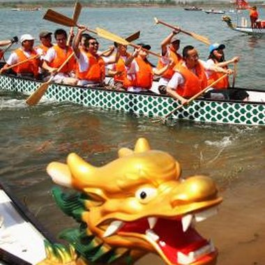 The Dragon Boat Festival is one of China's major celebrations.