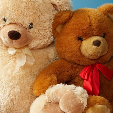 Personalize your teddy by adding a necktie or bow.