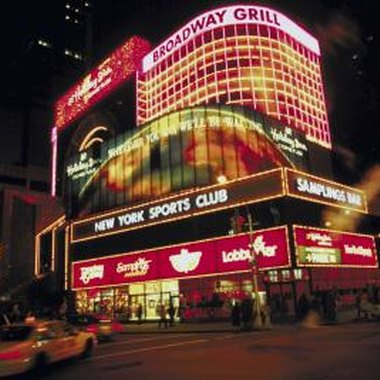 The theater district of New York City centers around Broadway.