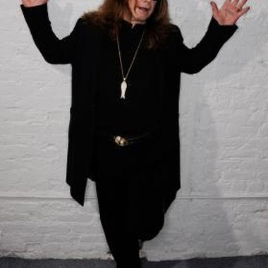 Ozzy Osbourne first became famous as the lead singer for Black Sabbath.