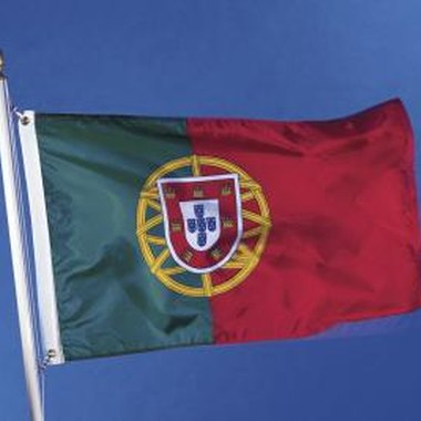 Raising the Portuguese flag is often a part of Portuguese festival ceremonies in Massachusetts.