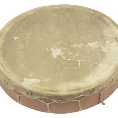 Modern Indian drums are often made with cowhide stretched across the top.