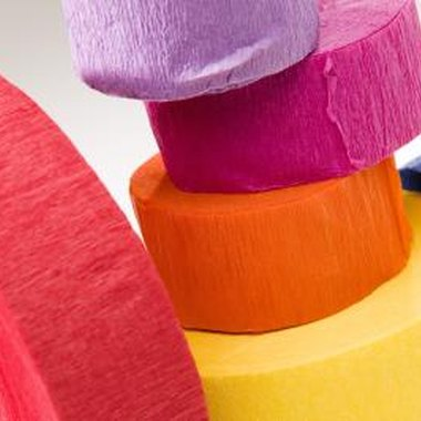 Use crepe paper in a variety of colors.