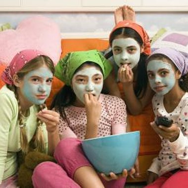 Create a spa sleepover party for your preteen.