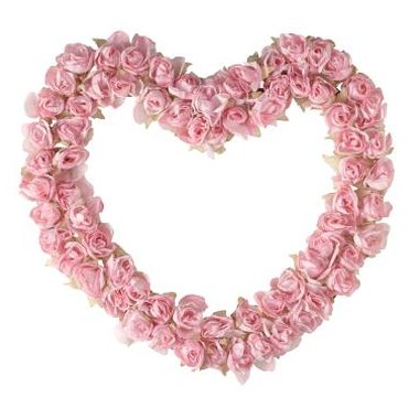 A heart wreath makes a lovely centerpiece.
