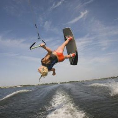 Wakeboard towers give you more air during jumps than does hull mounting.
