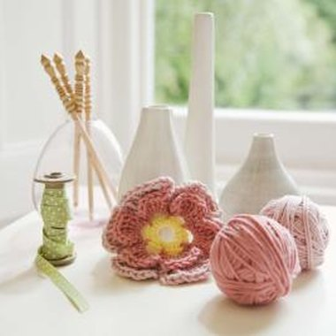 To crochet a flower; start off with a circle.